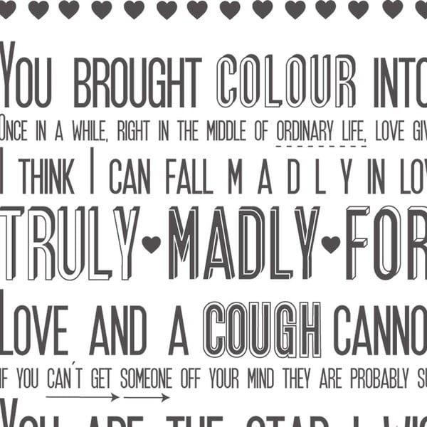 Plakat Love Sayings, 30x40 cm
