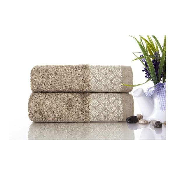 Zestaw 2 ręczników Bamboo Polo Beige, 50x90 cm