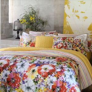 Pościel z prześcieradłem Colourful Flowers, 200x220 cm