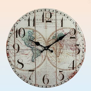 Zegar ścienny Maps