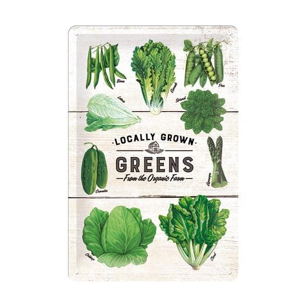 Tabliczka blaszana Vegetables, 20x30 cm