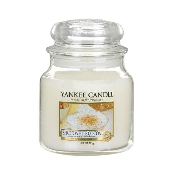 Świeca zapachowa Yankee Candle Białe Kakao z Przyprawami, czas palenia 65–90 godzin