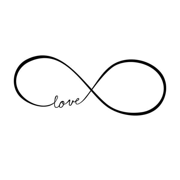 Naklejka ścienna Love Infinity