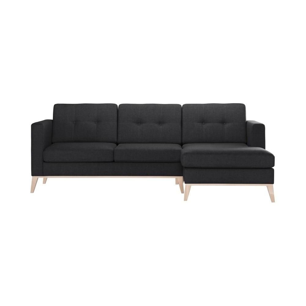 Antracytowa prawostronna sofa narożna Stella Cadente Maison Recipe