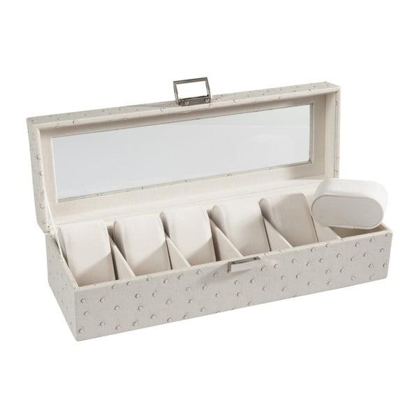 Kremowe pudełko na zegarki