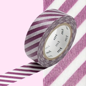 Taśma dekoracyjna washi Stripe Purple