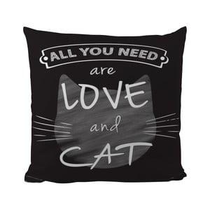 Poduszka Black Shake Love And Cat, 50x50 cm