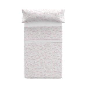 Poszewka na poduszkę z prześcieradłem Pooch Paper Dreams Coral, 110x45cm