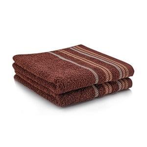 Komplet dwóch ręczników Hugo 50x90 cm, brown