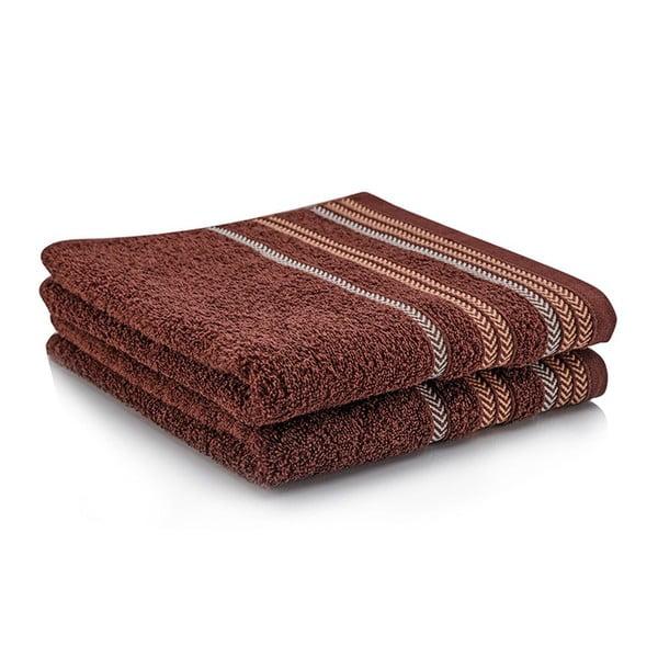 Komplet dwóch ręczników Hugo 70x140 cm, brown