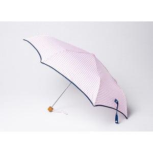Składany parasol Vichy, różowy