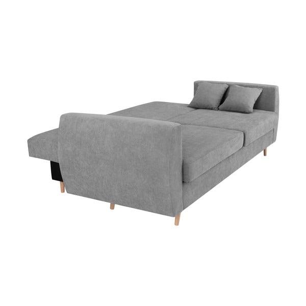Szara 3-osobowa sofa rozkładana ze schowkiem Cosmopolitan design Amsterdam, 231x98x95 cm