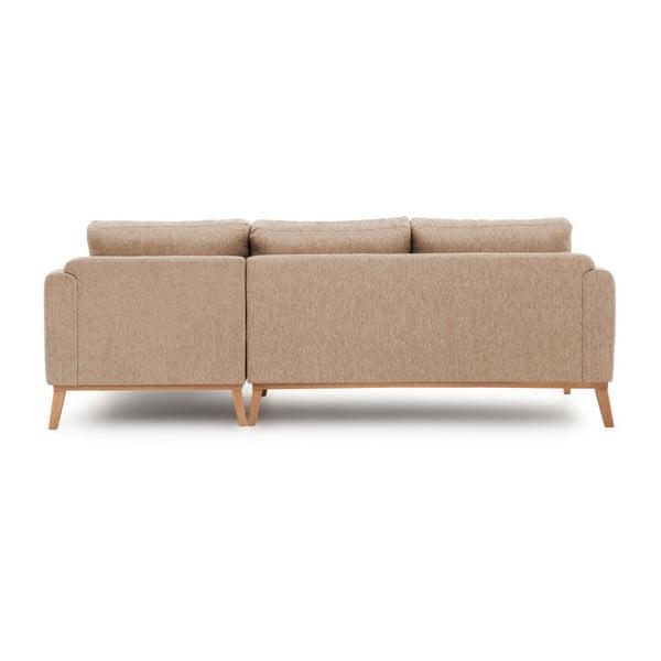 Beżowa prawostronna sofa narożna Vivonita Milton