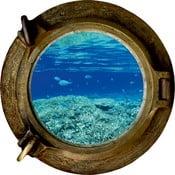 Dekoracyjna naklejka ścienna Ocean, 33x33 cm