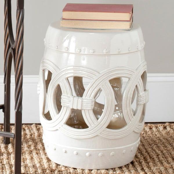 Biały stolik ceramiczny Safavieh Antique White