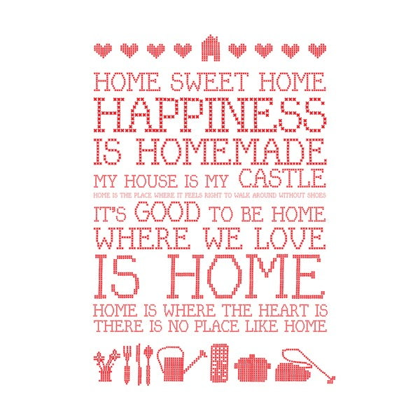 Plakat Karin Åkesson Design Home Sweet Home, 30x40 cm