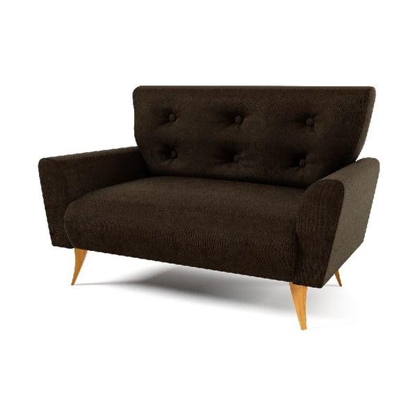 Dwuosobowa sofa Lacoma, ciemnobrązowa