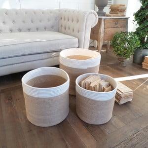 Zestaw 3 koszyków Cotton Natural