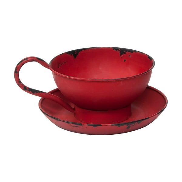 Czerwony świecznik Novita Cup