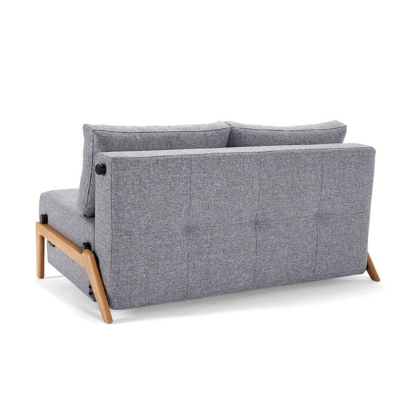 Szara sofa rozkładana Innovation Cubed