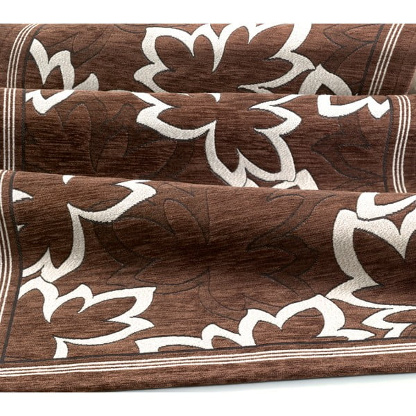 Brązowy wytrzymały chodnik kuchenny Webtapetti Maple Marrone, 55x140 cm