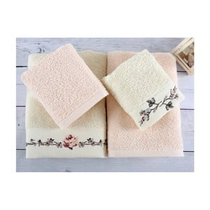 Komplet 4 ręczników z bawełny premium Essa