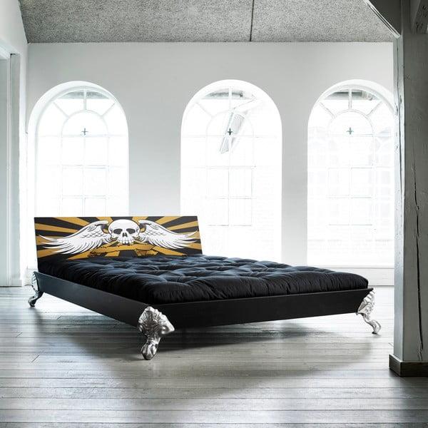 Łóżko Karup Eagle Black/Scull,   140x200 cm