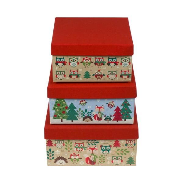 Zestaw 3 szt. pudełek Tri-Coastal Christmas Stories