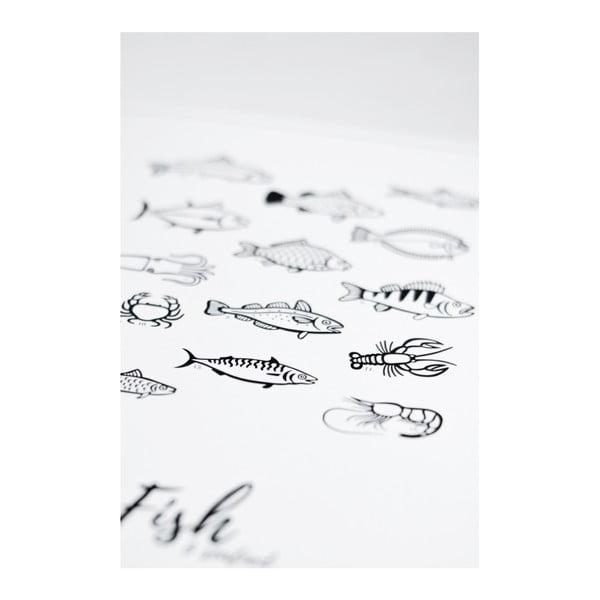 Plakat Follygraph 4 Fish & Seafood, 21 x 30cm