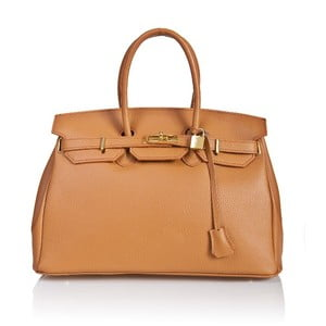 Skórzana torebka Bella Cognac