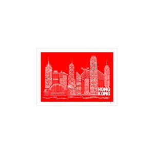 Plakat Hong Kong Red&White, 50x70 cm