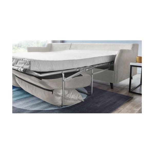 Kremowa sofa rozkładan z szezlongiem po prawej stronie Bobochic Paris Loft