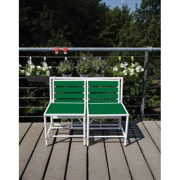 Składana ławka Magical, zielona