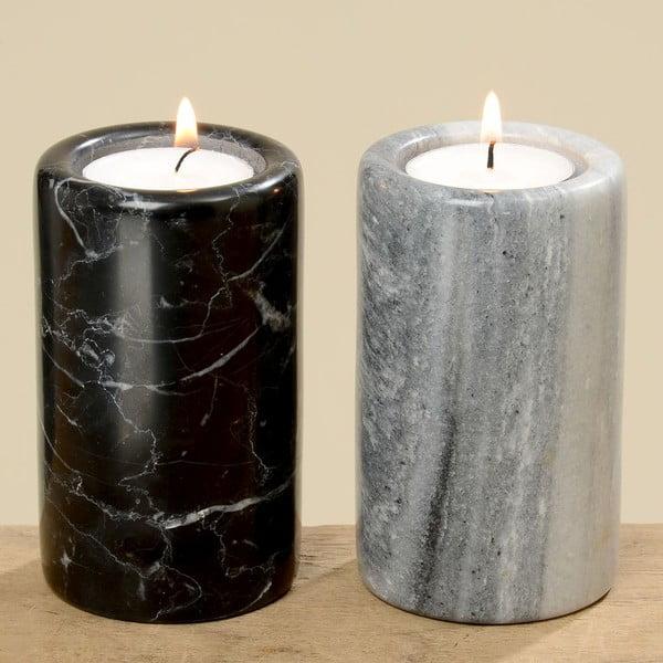 Zestaw 2 świeczników Marble