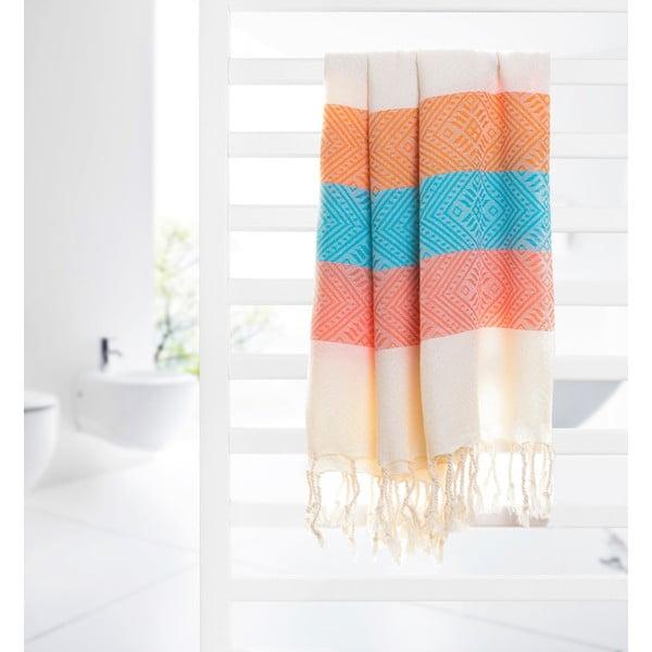Ręcznik hammam Waves, czerwony