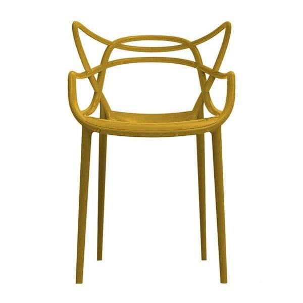 Żółte krzesło Kartell Masters