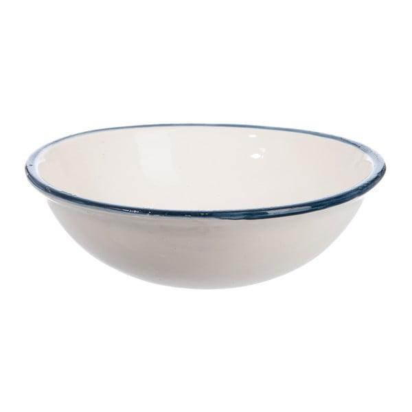 Ceramiczna misa Cream and Blue, 30 cm