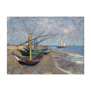 Reprodukcja obrazu Vincenta van Gogha – Fishing Boats on the Beach at Les Saintes–Maries-de la Mer, 40x30 cm