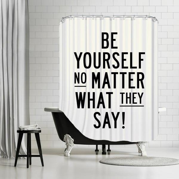 Zasłona prysznicowa Be Yourself, 180x180 cm