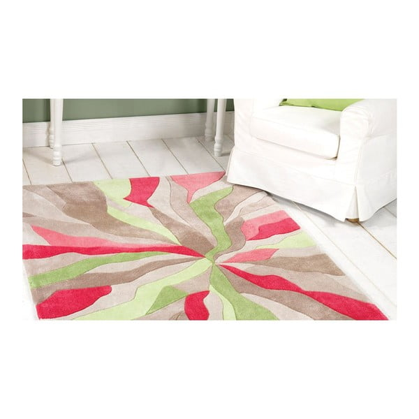 Dywan Splinter Pink Green, 80x150 cm