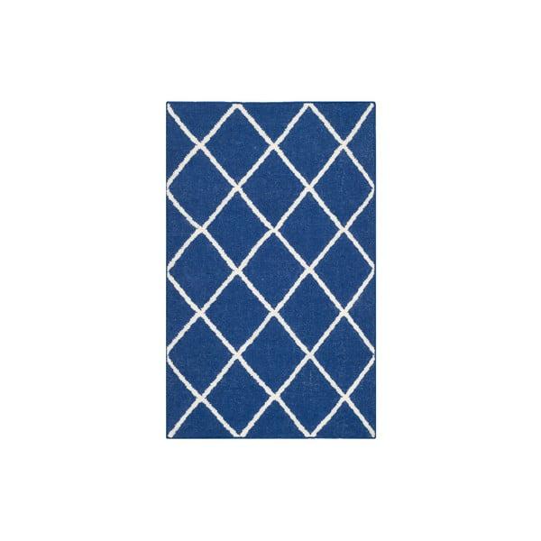 Wełniany dywan Fes 76x121 cm, niebieski