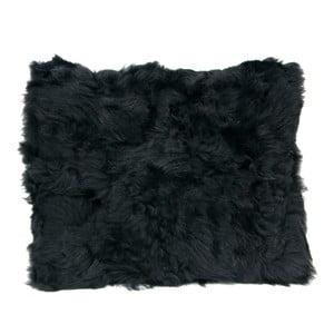 Futrzana poduszka 40x50 cm, czarna