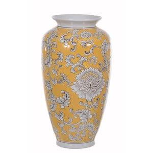 Żółty ozdobny wazon ceramiczny Dino Bianchi, wysokość37cm