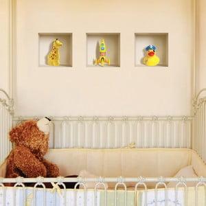 Naklejki na ścianę 3D Yellow Dake