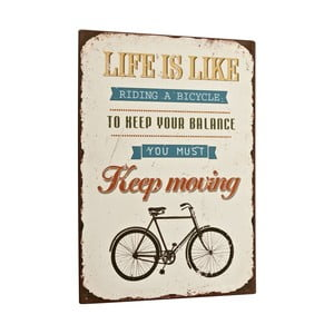 Tablica Life is like riding a bike, 35x26 cm