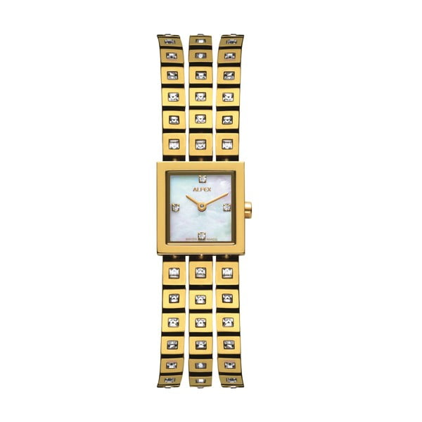 Zegarek damski Alfex 5661 Yelllow Gold/Yellow Gold