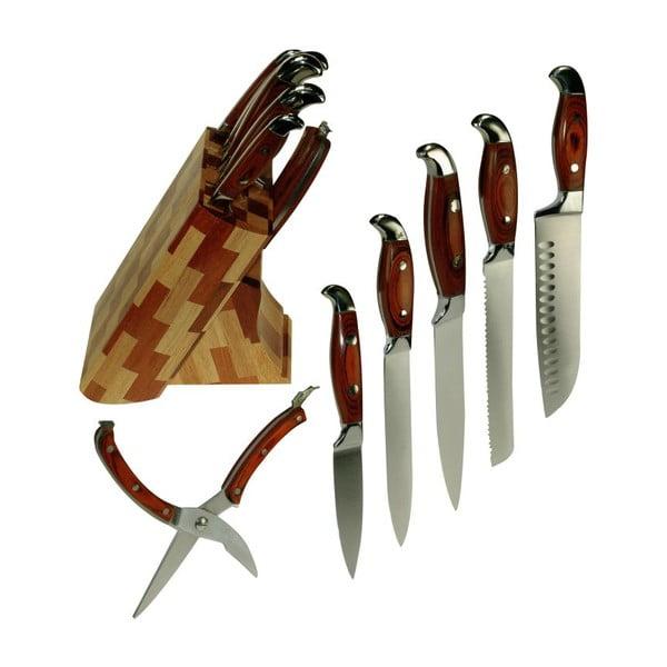 Zestaw noży ze stojakiem Wood Flat