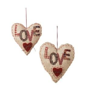 Zestaw 2 dekoracji wiszących Love Hearts