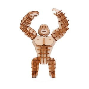Puzzle 3D z ogorzałki wełnistej Kikkerland Gorilla