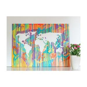 Obraz Colorful World Map II, 60x90 cm